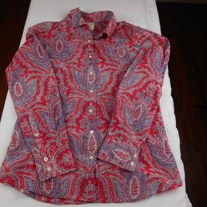 J. Crew The Perfect Shirt Paisley Design
